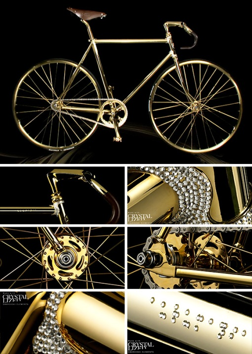 Lujos y estravagancias. Swarovski-crystal-and-24k-gold-plated-bike